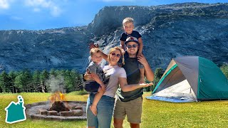Camping in Yosemite National Park for 24 Hours!! ⛺️