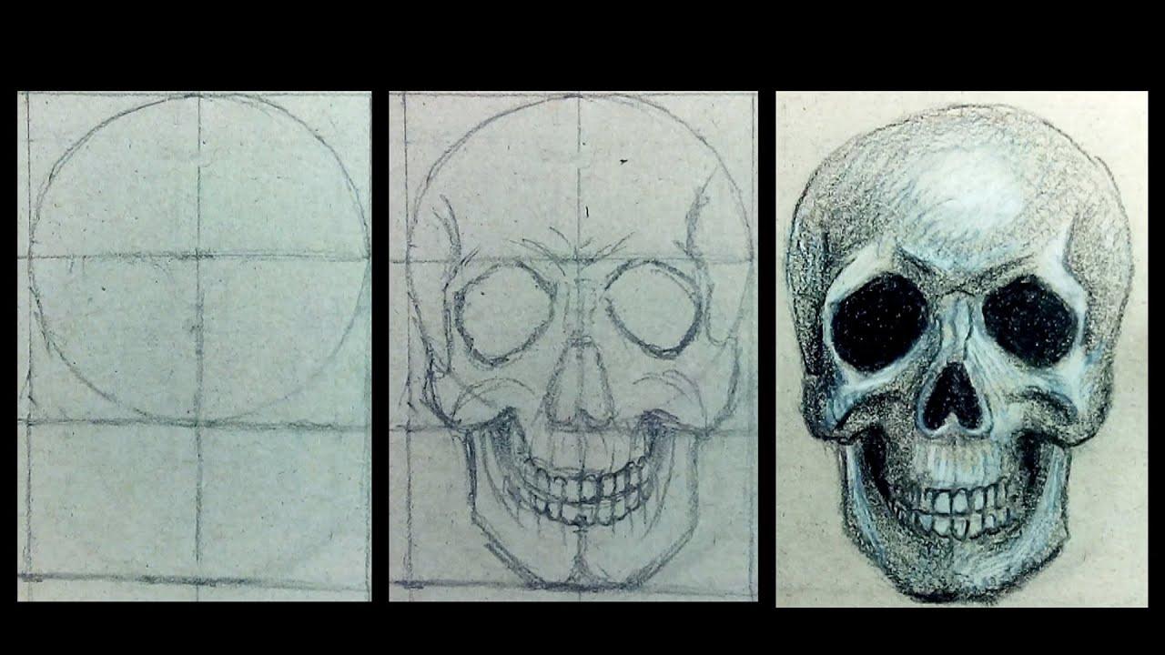 Як намалювати череп Как нарисовать череп #46635 Indo TV