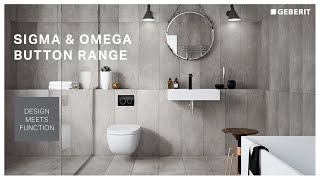 Geberit concealed cistern - button selector - Sigma & Omega