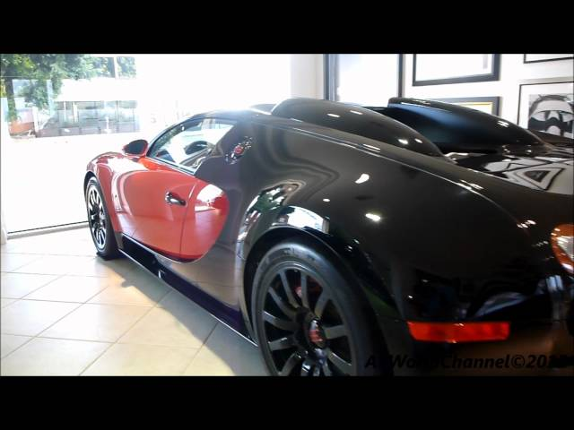 Bugatti Veyron 16.4 Red and Black With Tuned Black Rim Walkaround
