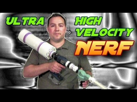 PVC Deadly Nerf Air Gun - Part 2 - DIY Tutorial Build & Demo
