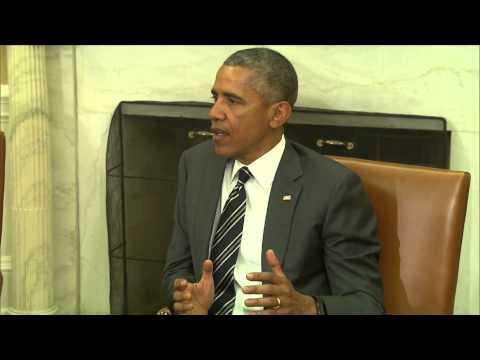 President Barack Obama Meets NATO Sec. Gen. Jens Stoltenberg in Oval Office