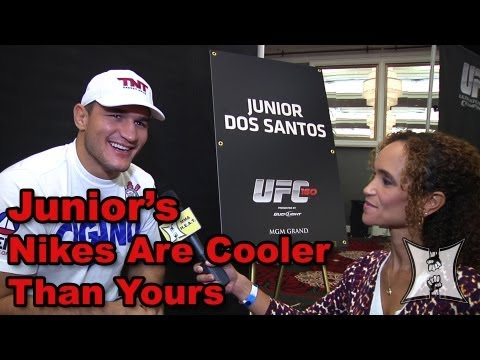 UFC 160s Junior Dos Santos on Mark Hunt Strategy Against Cain  His Signature Nikes