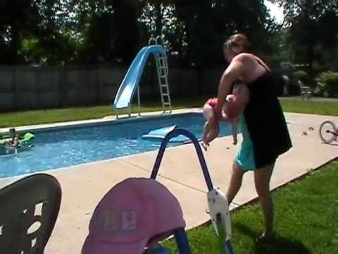 Baby Poops In Bathing Suit While Asleep On Granny's Lap video