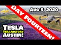 Tesla Gigafactory Austin 4K 8/5/20 - Tesla Terafactory Austin TX - Leveling Continues at the Site!