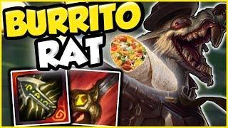 I'm a BURRITO RAT! Twitch Jungle DESTROYING DIAMONDS! - League of Legends