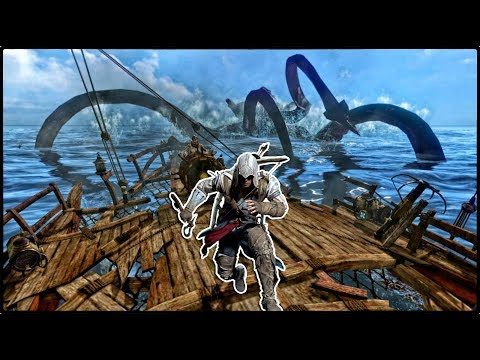 Assassin's Creed 3 - ОБ ЭТОМ ВЫ ТОЧНО НЕ ЗНАЛИ! ТАЙНА МОРСКОГО ЧУДОВИЩА / ОХОТА НА ДРЕВНЕГО КРАКЕНА!