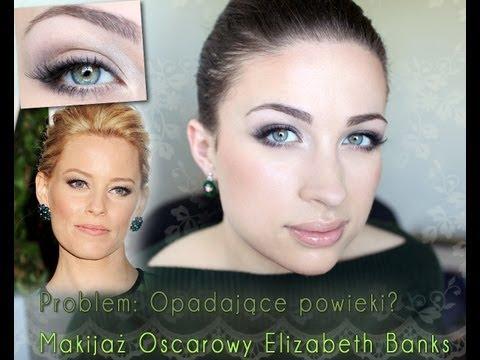 ** Opadająca powieka: makijaż Elizabeth Banks **