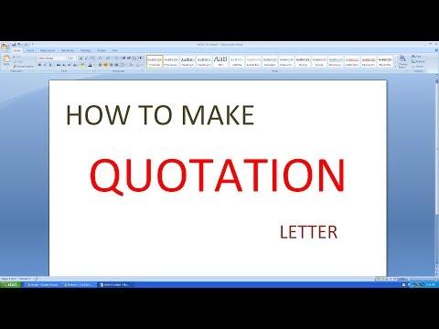 make quotation online