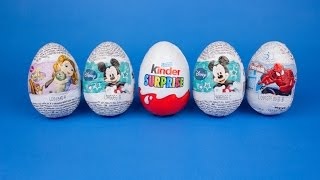 Spider-Man Mickey Mouse Kinder Surprise and Sofia Surprise Eggs