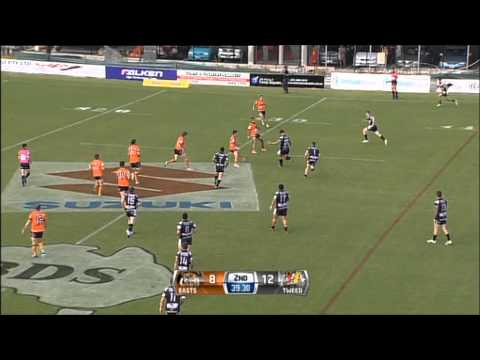 All the highlights from the Intrust Super Cup 2013 Round Six clash between Easts Tigers and Tweed Heads Seagulls at Langlands Park. Tweed Heads Seagulls - 23 Tries: Ali Hijazi 2, Tim Maccan,...