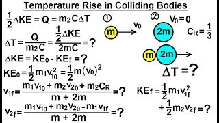 Physics: Ch 23A - Test Your Knowledge: Specific Heat (1 of 10) Temp. Rise in Colliding Objects