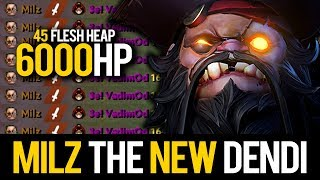 Milz Pudge - NEW DENDI PUDGE MID 6000+ HP DESTROYED Enemy Team With 29 Kills | Pudge Official
