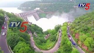Amazing Srisailam Dam Exclusive Drone Visuals  - netivaarthalu.com