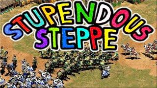 Stupendous Steppe! Intense AoE2 2v2 Match!