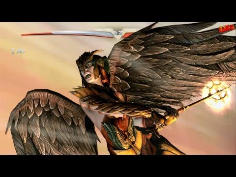 Injustice Gods Among Us Hawkgirl Arcade Ladder playthrough with final boss fight and ending