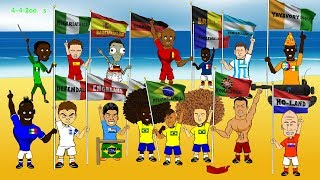 WORLD CUP 2014 OPENING CEREMONY by 442oons (World Cup Song Cartoon)