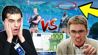 1vs1 tegen hater voor €100 (verloren?)