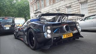 Pagani Zonda 760 VR roadster REVS and AMAZING SOUNDS in London!!