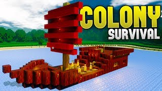 Colony Survival - Money Making Pirates! - Building A Ship Colony - Colony Survival Gameplay