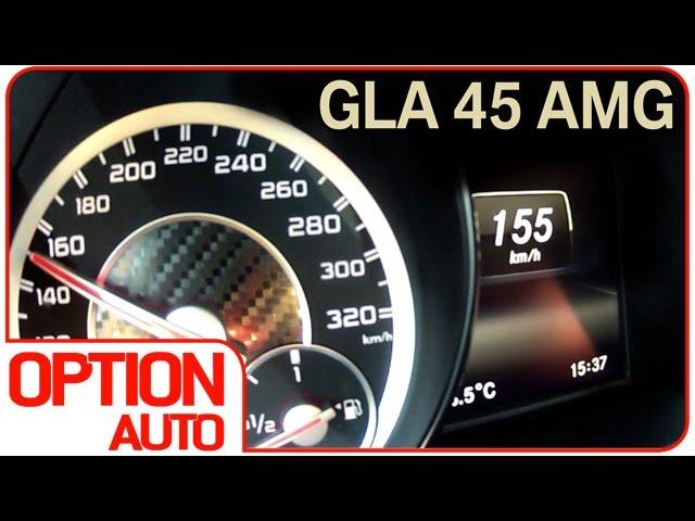 0-100/Exhaust Sound : Mercedes GLA 45 AMG (Option Auto)