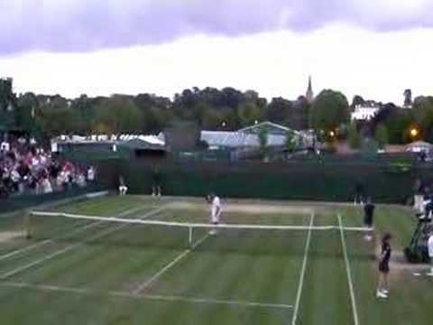 Radek Stepanek bashes rackets Wimbledon 2008 Video