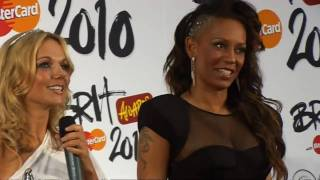 Mel B & Geri react to Brit Award win