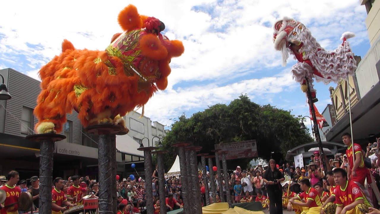 Lion Dancing Pole Year High Pole Lion Dance