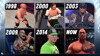 A Visual History of WWE Video Games on Playstation (1998 - 2017) | WWE 2K18 Countdown!