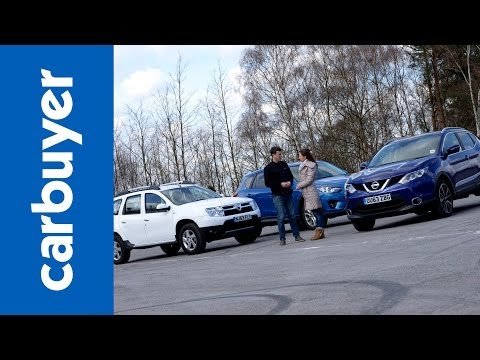 Best 4x4s and SUVs - Nissan Qashqai vs Dacia Duster vs Mazda CX-5 - Carbuyer