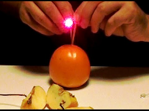 "Free Energy Generator. Fruit powered led light ""Free Energy"" - YouTube"