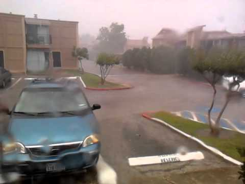 Huricane like storm in San Antonio Texas