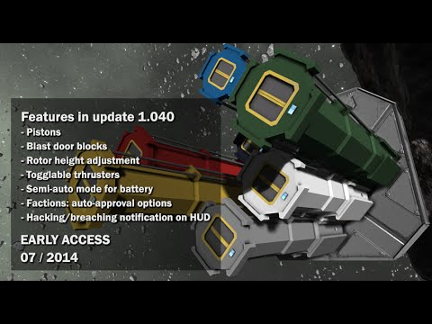 Space Engineers - Pistons, Blast door blocks