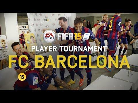 Fifa 15 - Fc Barcelona Player Tournament - Messi, Neymar, Alves, Piqué, Alba, Rakitić, Bartra, Munir video