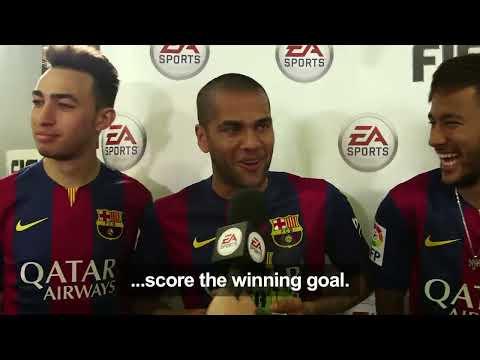 FIFA 15 - FC Barcelona Player Tournament - Messi, Neymar, Alves, Piqué, Alba, Rakitić, Bartra, Munir
