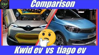 Compare tata tiago electric  with renault  kwid electric.