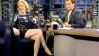 Sharon Stone on Late Night 1992