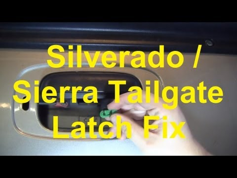 How To Fix A Stuck Tailgate Latch On A Silverado / Sierra