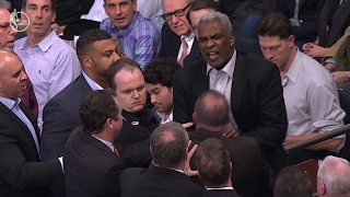 Knicks Legend Charles Oakley ARRESTED During Game After FIGHT with James Dolan, NBA Reacts