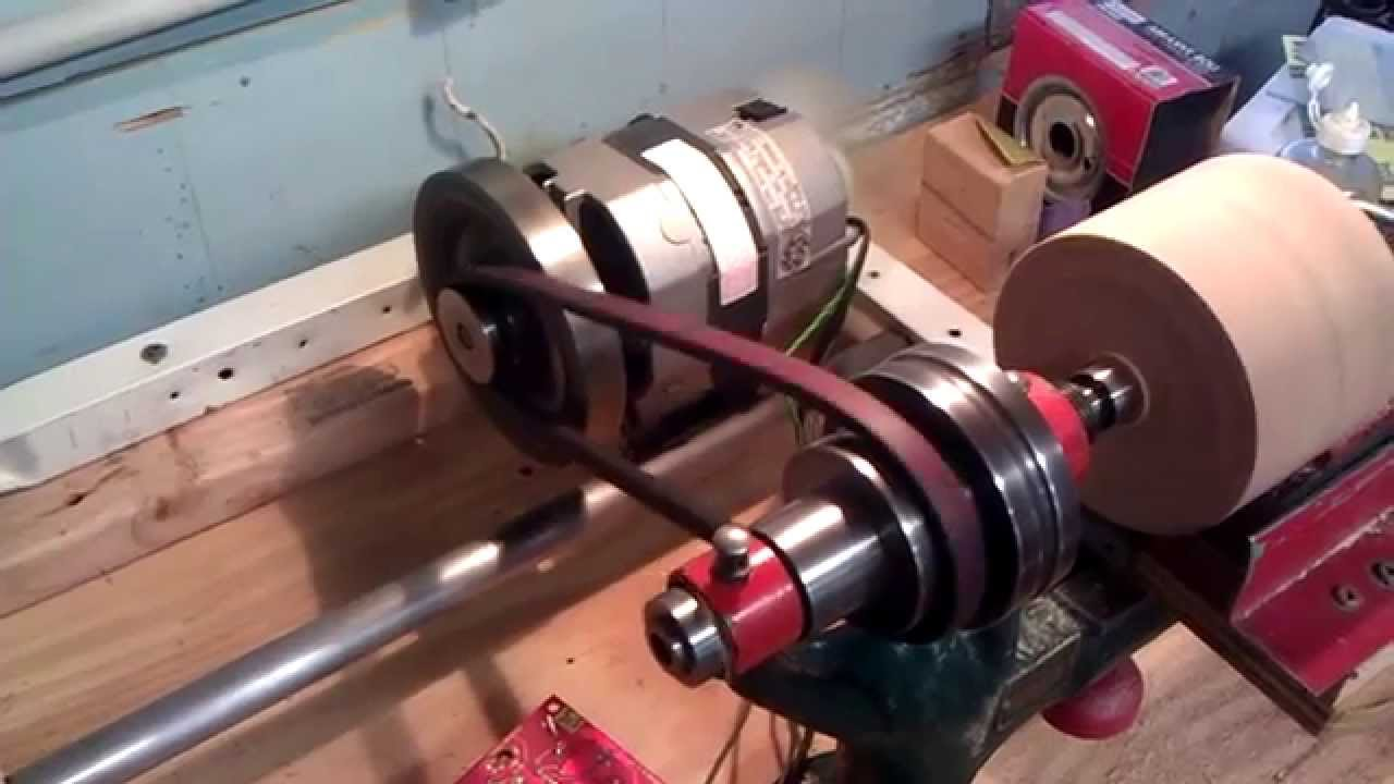 Vintage bench lathe running on 1 hp dc motor youtube for How to convert a dc motor to ac