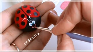 Tutorial Coccinelle Portafortuna dipinte su sassi - Rock Painting tutorial