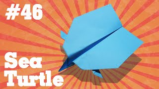 Origami easy - how to make a easy paper airplane #46  Sea Turtle