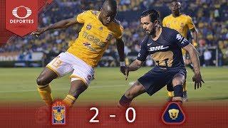 Resumen Tigres 2 - 0 Pumas | Clausura 2019 - Jornada 13 | Presentado por Corona