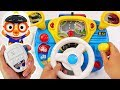 Pororo Police Driving play. Go! Pororo! Drive a Police car and arrest the villain! #PinkyPopTOY