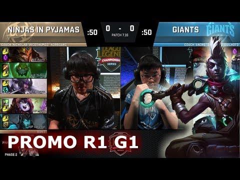 Ninjas In Pyjamas Vs Giants Game 1 Promotion Relegation S8