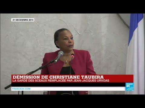 Démission de Christiane Taubira - La garde des Sceaux remplacée par Jean-Jacques Urvoas