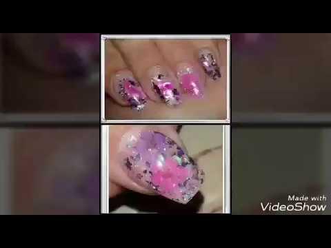 Dried flowers-seashell nails♡