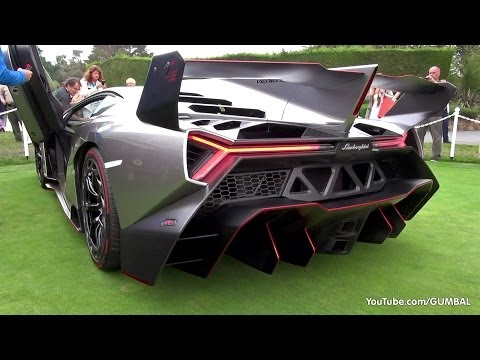 Lamborghini Veneno SOUND! Start Up + Driving On The Road! Music Videos