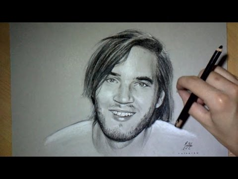 Drawing time lapse: PewDiePie Portrait
