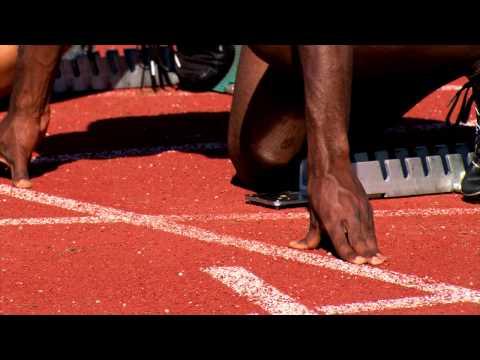 Athlétisme –  finales du 100 m hommes